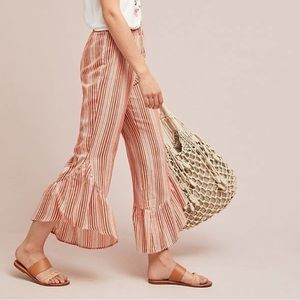 Anthropologie | Moon River Canaria Ruffle Pants